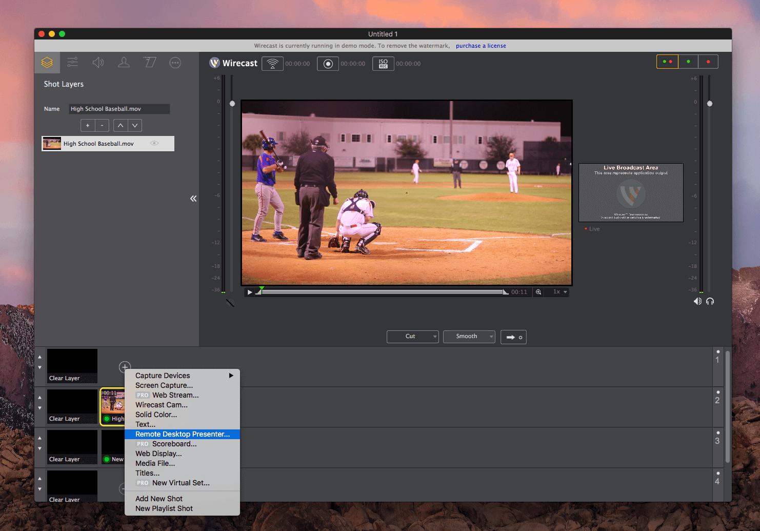 Wirecast MAC OS X and Live Score | live-score-app com